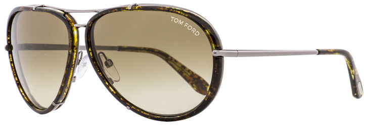 Tom Ford Aviator Sunglasses TF109 Cyrille 14P Ruthentium/Brown Horn 63mm FT0109