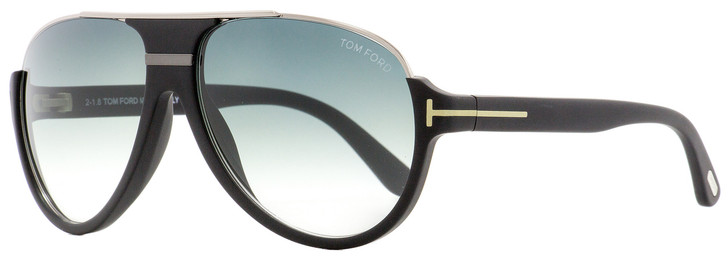 Tom Ford Aviator Sunglasses TF334 Dimitry 02W Matte Black/Ruthenium 59mm FT0334
