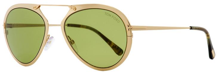 Tom Ford Aviator Sunglasses TF508 Dashel 28N Gold/Vintage Havana 55mm FT0508