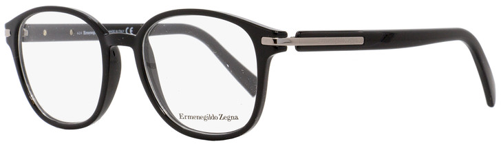 Ermenegildo Zegna Oval Eyeglasses EZ5004 001 Black/Ruthenium 49mm 5004