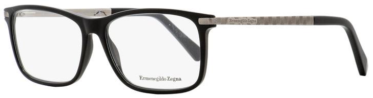 Ermenegildo Zegna Rectangular Eyeglasses EZ5060 001 Black/Gunmetal 55mm 5060