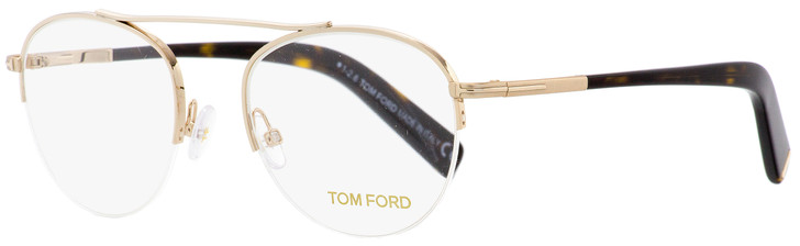 Tom Ford Semi-Rimless Eyeglasses TF5451 28B Gold/Havana 48mm FT5451
