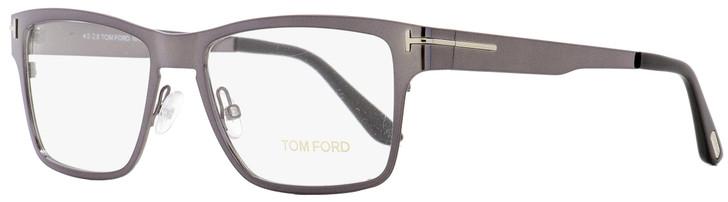 Tom Ford Eyeglasses TF5475 12V Dark Ruthenium/Black 54mm FT5475 w/ Clip-On