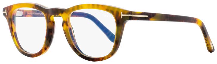 Tom Ford Blue Block Eyeglasses TF5488B 055 Vintage Yellow Havana 49mm FT5488B