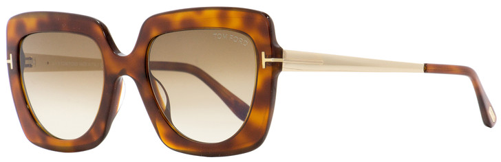 Tom Ford Square Sunglasses TF610 Jasmine-02 53F Blonde Havana/Gold 53mm FT0610