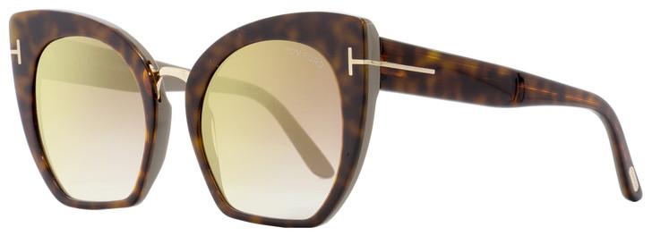 Tom Ford Butterfly Sunglasses TF553 Samantha-02 56G Havana 55mm FT0553