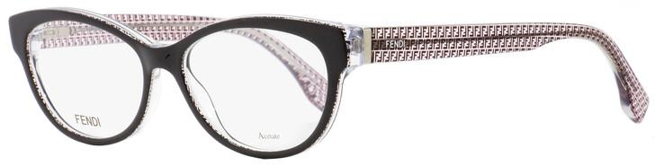 Fendi Oval Eyeglasses FF0109 6ZV Black/Transparent 52mm 109