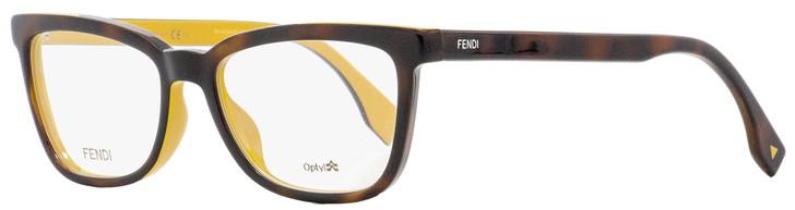 Fendi Rectangular Eyeglasses FF0122 MFR Havana/Ochre 51mm 122