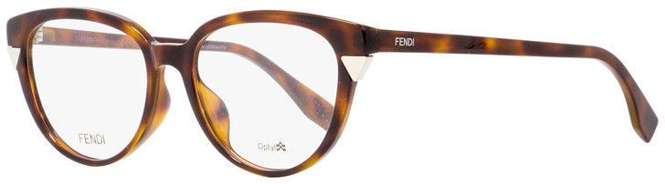 Fendi Oval Eyeglasses FF0141F MQL Havana 51mm 141