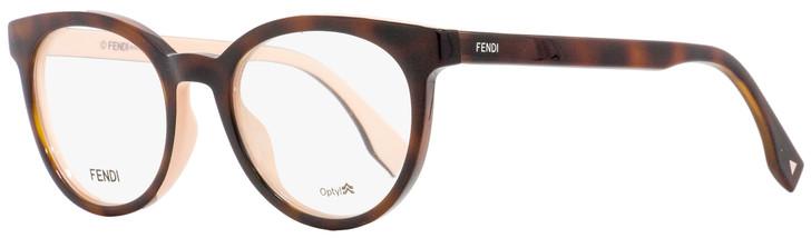 Fendi Oval Eyeglasses FF0159 TLK Havana/Pink 50mm 159