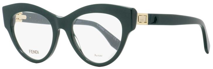 Fendi Cateye Eyeglasses FF0273 Peekaboo 1ED Green/Gold 49mm 273