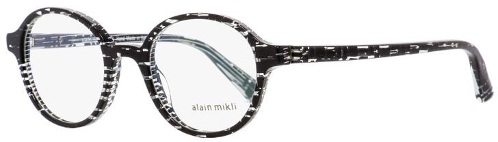 Alain Mikli Oval Eyeglasses A03064 B0F6 Crystal Black 47mm 3064