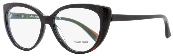 Alain Mikli Oval Eyeglasses A03084 002 Black/Burgundy 55mm 3084