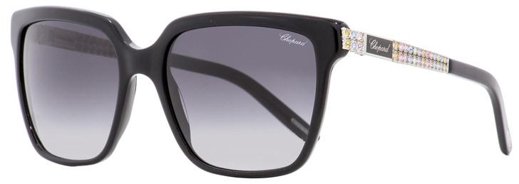 Chopard Rectangular Sunglasses SCH208S 0700 Black/Palladium 56mm 208