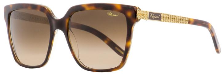 Chopard Rectangular Sunglasses SCH208S 091Z Havana/Gold 56mm 208