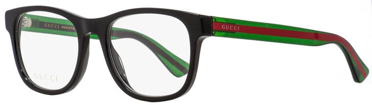 Gucci Rectangular Eyeglasses GG0004O 002 Black/Green/Red 53mm 0004