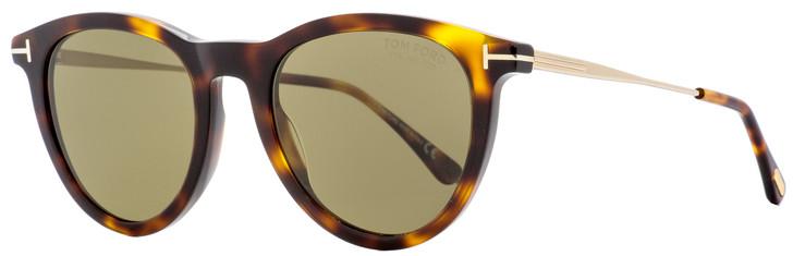 Tom Ford Oval Sunglasses TF626 Kellan-02 92H Dark Havana/Gold Polarized 51mm FT0626