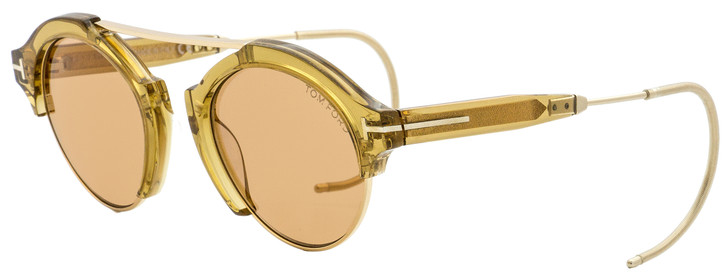 Tom Ford Oval Sunglasses TF631 Farrah-02 45E Champagne/Gold 49mm FT0631