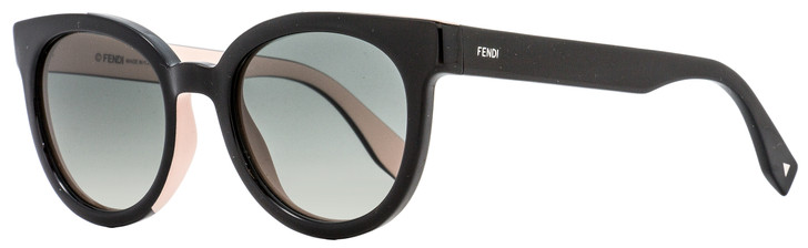 Fendi Oval Sunglasses FF0150S U6WVK Black/Pink 51mm 150
