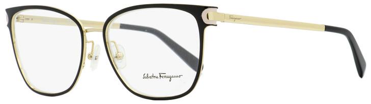 Salvatore Ferragamo Rectangular Eyeglasses SF2150 017 Black/Gold 53mm 2150