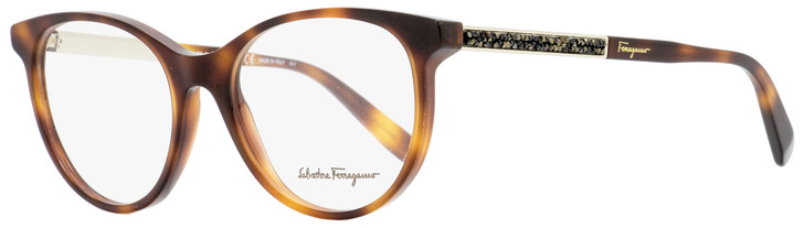 Salvatore Ferragamo Oval Eyeglasses SF2805R 212 Havana/Gold 52mm 2805