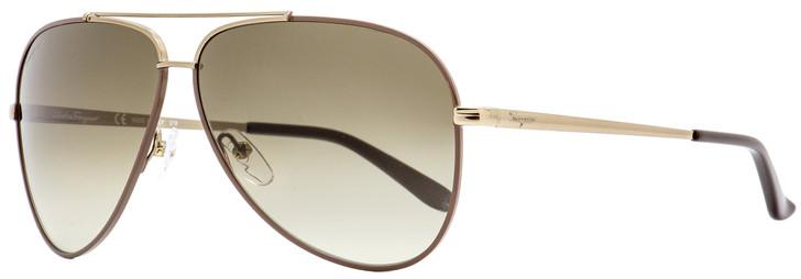 Salvatore Ferragamo Aviator Sunglasses SF131S 211 Brown 60mm 131