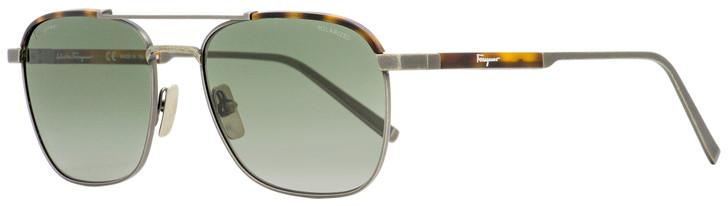 Salvatore Ferragamo Rectangular Sunglasses SF162SP 073 Antique Ruthenium/Tortoise Polarized 56mm 162