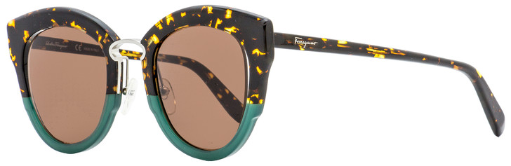 Salvatore Ferragamo Butterfly Sunglasses SF830S 220 Tortoise/Green 48mm 830
