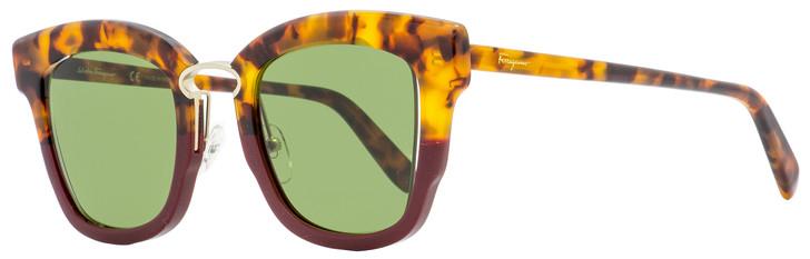 Salvatore Ferragamo Square Sunglasses SF886S 207 Havana/Bordeaux 48mm 886