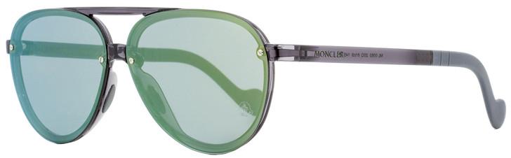 Moncler Aviator Sunglasses ML0063 20Q Transparent Gray 61mm 0063