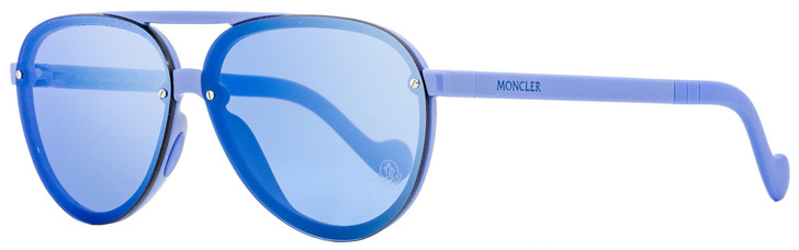 Moncler Aviator Sunglasses ML0063 90C Light Blue 61mm 0063