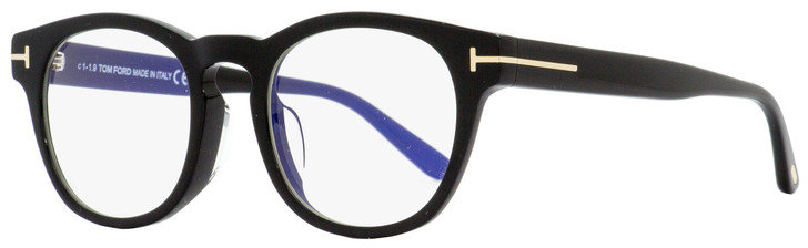 Tom Ford Blue Block Eyeglasses TF5543FB 001 Black/Gold 50mm 5543