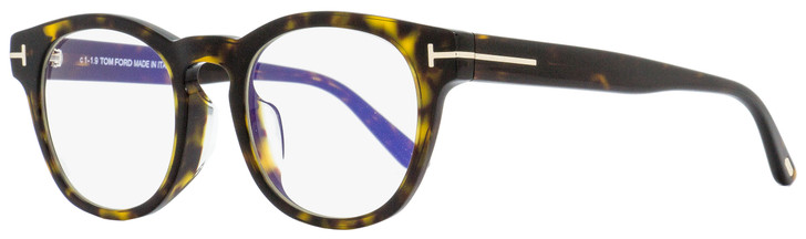 Tom Ford Blue Block Eyeglasses TF5543FB 052 Havana/Gold 50mm 5543