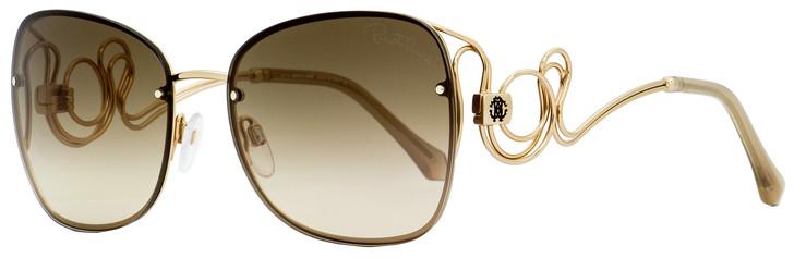 Roberto Cavalli Butterfly Sunglasses RC1027 Carrara 28G Gold 58mm 1027
