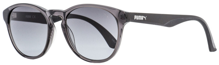 Puma Oval Sunglasses PU0105S 006 Transparent Gray/Black 50mm 105