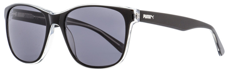 Puma Rectangular Sunglasses PU0152S Gramercy 001 Black/Crystal 55mm 152