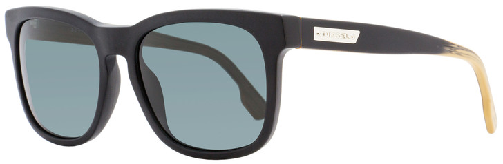Diesel Rectangular Sunglasses DL0151 02N Matte Black  55mm 151