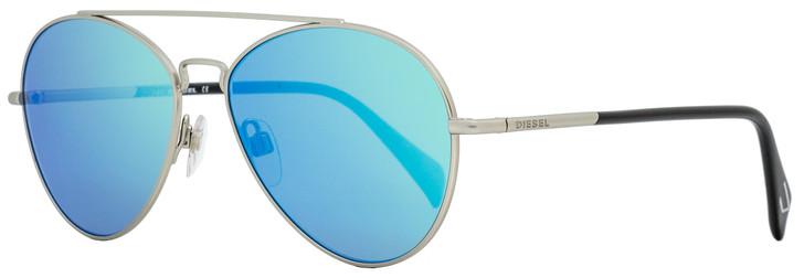 Diesel Aviator Sunglasses DL0193 17X Matte Palladium/Black 56mm 193