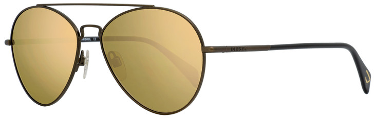 Diesel Aviator Sunglasses DL0193 37L Matte Bronze/Black 56mm 193
