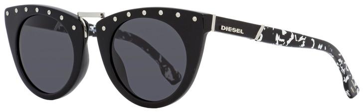 Diesel Cateye Sunglasses DL0211 01A Shiny Black   49mm 211