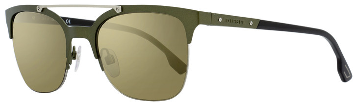 Diesel Oval Sunglasses DL0215 97G Matte Green/Black 54mm 215