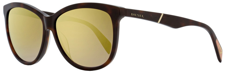 Diesel Oval Sunglasses DL0221 52G Dark Havana  59mm 221