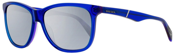 Diesel Rectangular Sunglasses DL0222 92C Blue 57mm 222