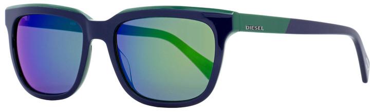 Diesel Rectangular Sunglasses DL0224 92Q Blue/Green 56mm 224