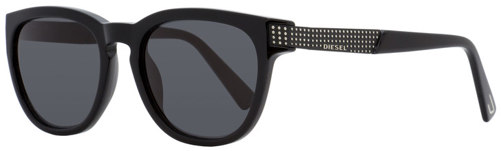 Diesel Oval Sunglasses DL0237 01A Shiny Black   51mm 237