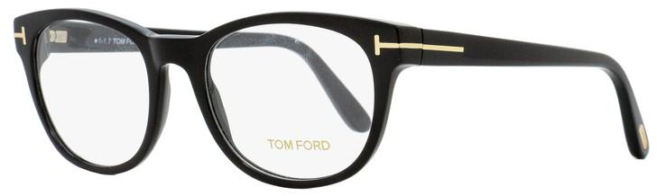 Tom Ford Round Eyeglasses TF5433 001 Shiny Black 53mm FT5433