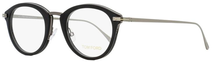 Tom Ford Oval Eyeglasses TF5497 002 Mate Black/Ruthenium 48mm FT5497
