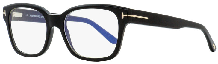 Tom Ford Blue Block Eyeglasses TF5535B 001 Black/Gold 54mm FT5535