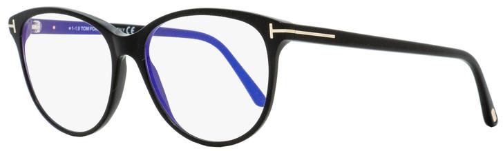 Tom Ford Blue Block Eyeglasses TF5544B 001 Black/Gold 55mm FT5544
