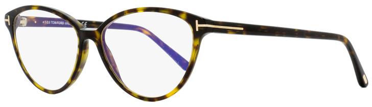 Tom Ford Blue Block Eyeglasses TF5545B 052 Havana/Gold 55mm FT5545